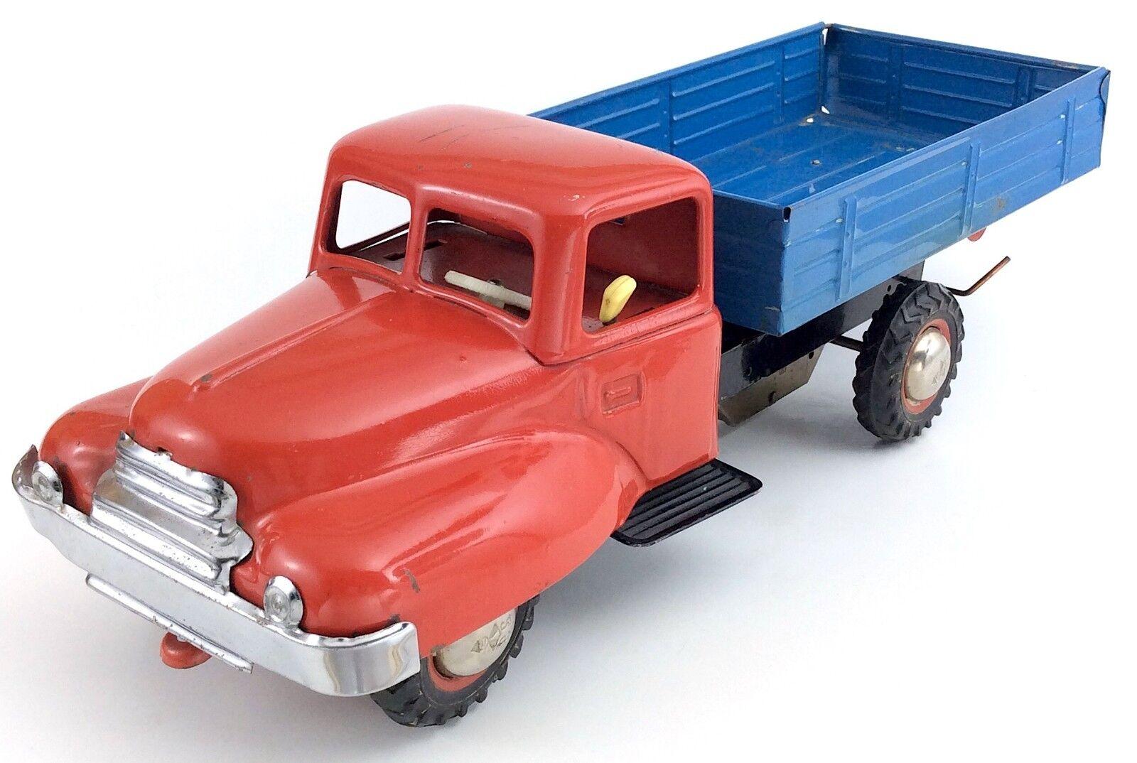 Antiguo de mediados de 1900 Acero Prensado fricción de trabajo con tecnología rosso blu camión H976