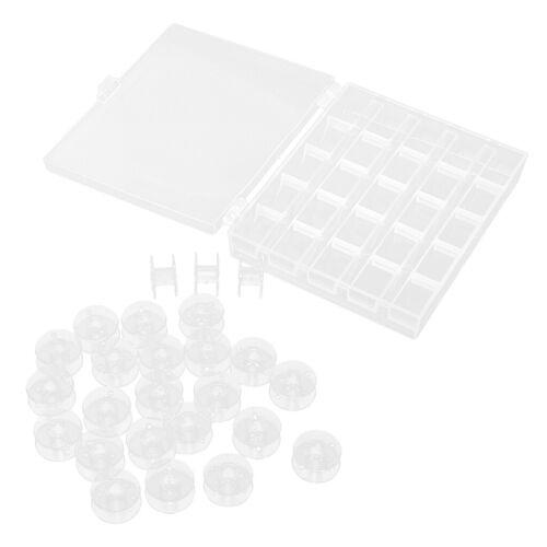 25 Klarspulen für die Kunststoffspule der Nähmaschine Brother Janome