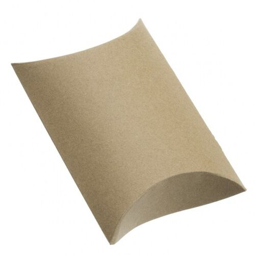 Brown Paper Small Pillow Jewellery Gift Box 12x8x3cm Pack of 1 G36//2