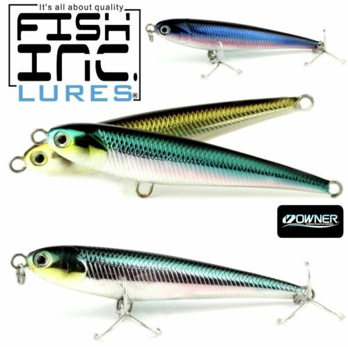 FISH INC SALTWATER BAITFISH SHAPE SINKING STICK BAIT LURE WINGLET 87mm//42g