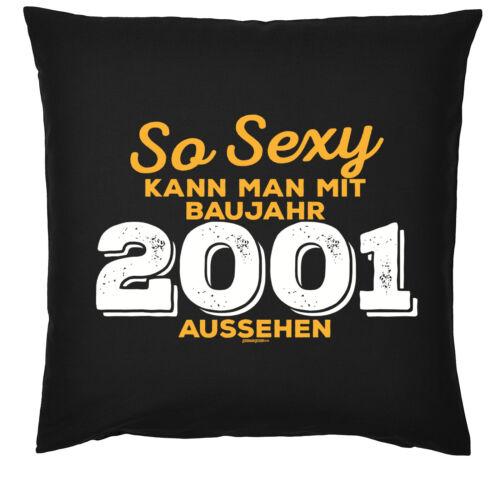 Jahrgang 2001-18 Geburtstag Kissen lustiges Sprüche Kissen 18 Jahre