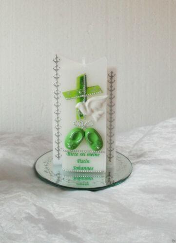 Taufkerze //Kommunionkerze Junge,Mädchen,3D Babyschuhe!Geburtstagsgeschenk