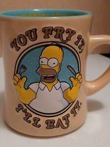 "Homer Simpson ""You Fry It, I'll Eat It"" Ceramic Mug - 2008 The Simpsons"