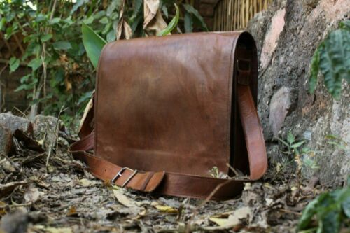 Bag Vintage Leather Men Messenger Laptop Satchel Shoulder S Genuine Briefcase