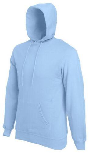 Fruit of the Loom Men/'s Hooded Sweatshirt Plain Hoodie Blank Pullover Hoody