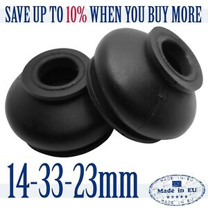 2-X-UNIVERSAL-Dust-Boot-Silicone-14-33-23-Track-Rod-End-and-Ball-Joint-Boots