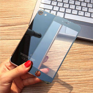 online retailer 337bd 6e42f Black Front+ Back Mirror Tempered Glass Screen Protector cover For ...