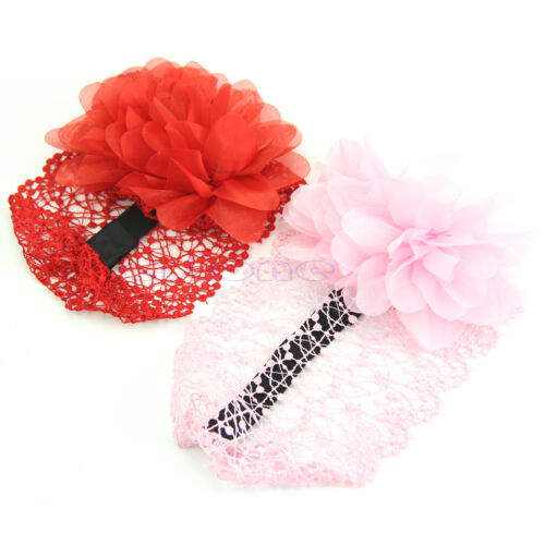 Kid Girl Newborn Baby Cute Elastic Headband Flower Hairband Hair Accessories