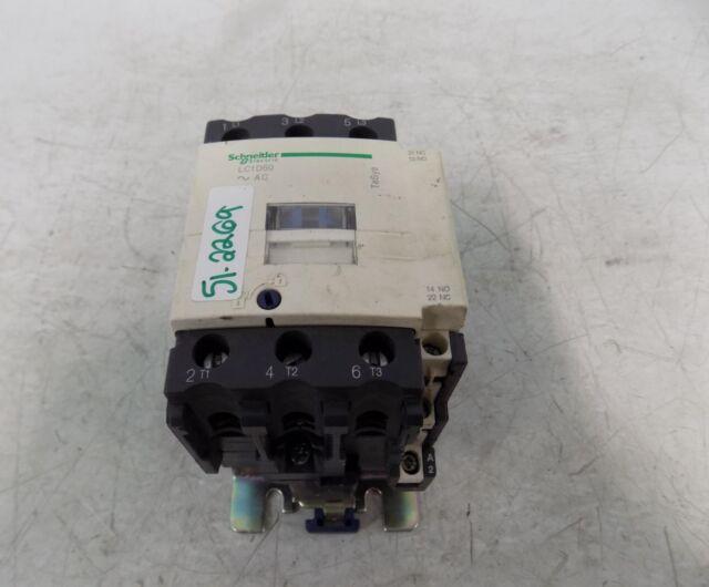 SCHNEIDER ELECTRIC Contactor 600-Vac 50-Amp Iec Plus Options LC1D50U7 71 Mm Single Ext Plate