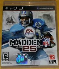 MADDEN NFL 25(Sony Playstation 3, 2013) SHIPS OUT FAST Mon-Sat!