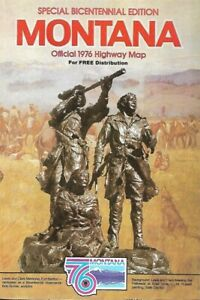 1976-Lewis-amp-Clark-MONTANA-Official-State-Highway-Map-Billings-Butte-Missoula