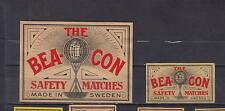 Ancienne  étiquette    allumettes Suède  AZ2480  Bea Con 5
