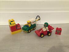 LEGO DUPLO RACER RACING CAR WITH OCTAN TRUCK ENGINEER