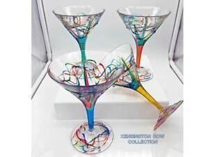 034-AMALFI-034-MARTINI-GLASSES-SET-OF-FOUR-HAND-PAINTED-VENETIAN-GLASSWARE