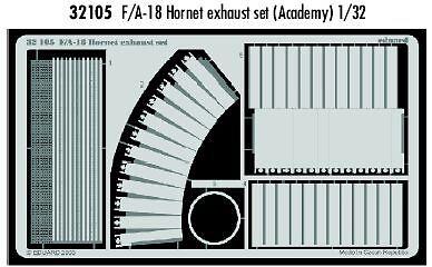 Eduard 1//32 F//A-18 Hornet Exhaust Set for Academy kit # 32105