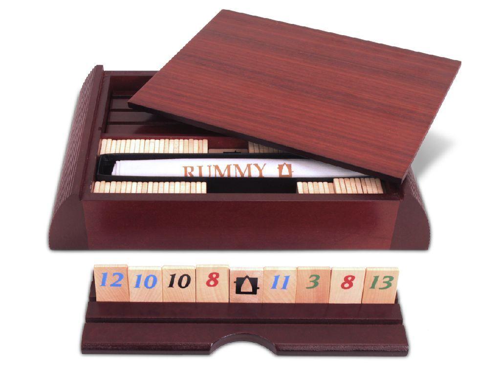 Pico Pao-Rummy-Jeux classique en élégant enregistrer-HART-bois