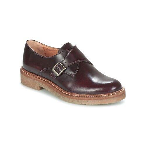KICKERS oxform Bordeaux Buckle Up Chaussures UK 7 EU 41 LN38 99