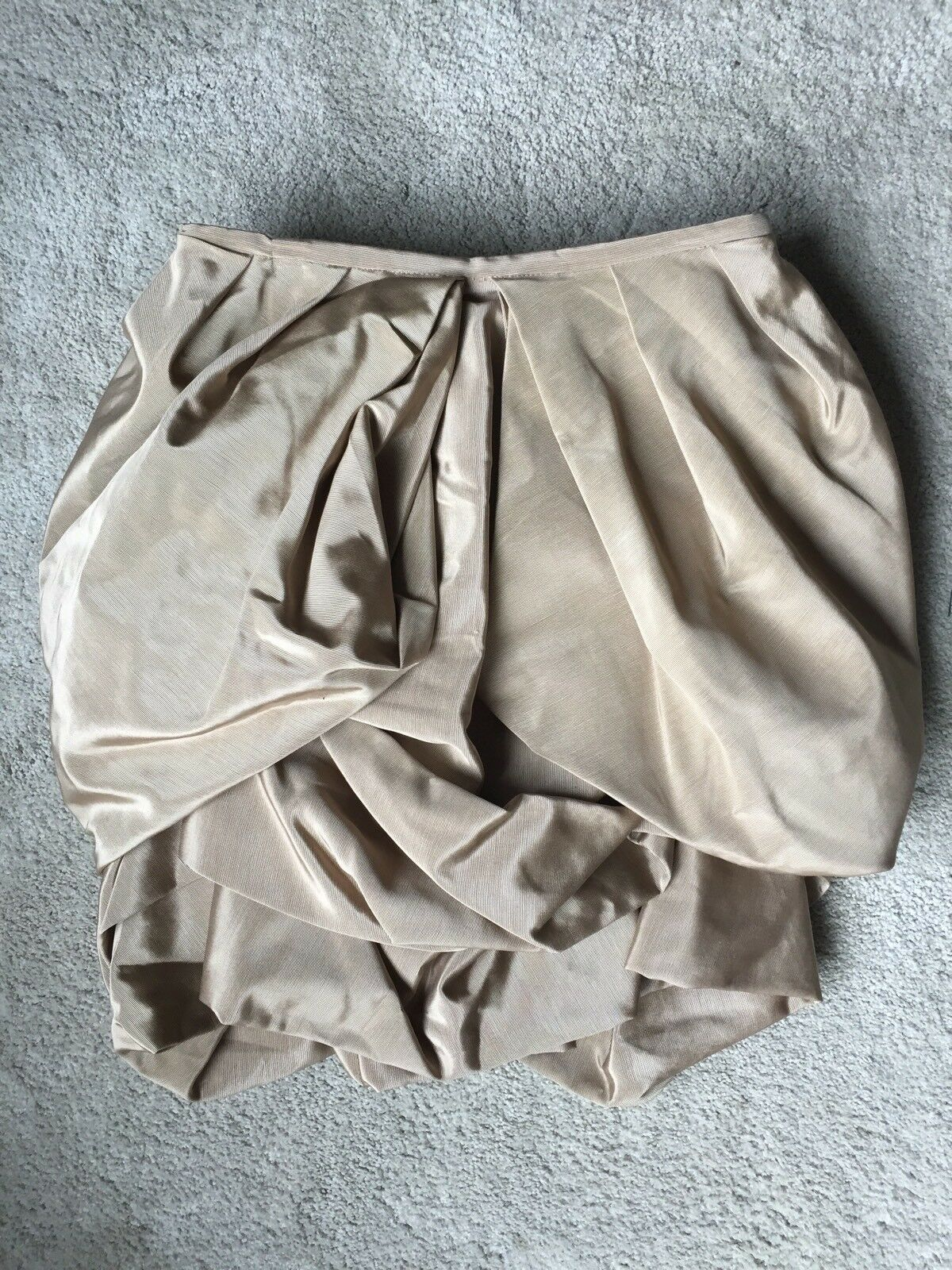 Anthropologie Sexy Amyclaire Draped Silk Sand Bubble Tulip Pouf Skirt Small