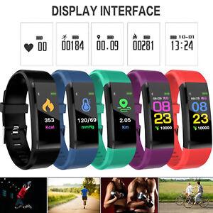 Smart-Bracciale-Orologi-Bluetooth-Monitor-Frequenza-Cardiaca-Contapassi-Calorie