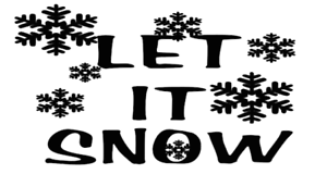 let it snow sticker vinyl funny car decal truck window