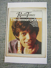 Postcard Vtg Radio Times cover April 1973 Mick Jagger The Rolling Stones 1970s