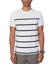 New Mens Nautica Slim Fit Crew Neck Marshmallo Stripe Mesh T Shirt Tee XXL
