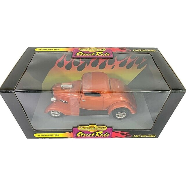 #7278 American Muscle Street Rods Orange '34 Ford High Tech Die Cast 1:18