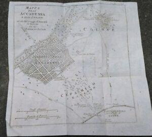 1790-GRECIA-BELLA-CARTA-GEOGRAFICA-MAPPA-DELL-039-ACCADEMIA-PLATONICA-DI-ATENE