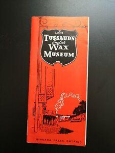 "Flyer: ""tussaund's Wax-museo"" Niagara Falls Ontario/um 1970!!!"