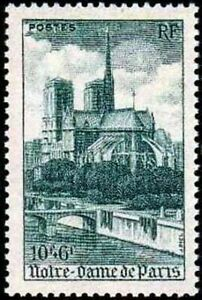 FRANCE-TIMBRE-STAMP-YVERT-N-776-034-CATHEDRALE-NOTRE-DAME-DE-PARIS-034-NEUF-xx-LUXE