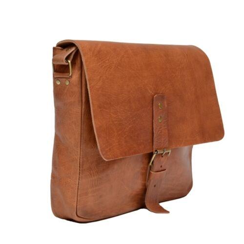 Aktentasche Schultasche Lehrertasche Umhängetasche Leder-Tasche Vintage 11 NEU!