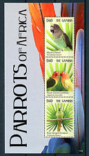 Gambia 2011 MNH Parrots of Africa 3v M/S II Birds Lovebirds Parakeets Stamps