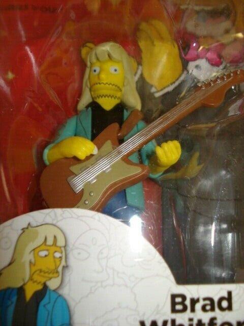 Simpsons Serie 4 estrellas de invitado mayor Brad whitfo Aerosmith Figura Nuevo en paquete Neca 201