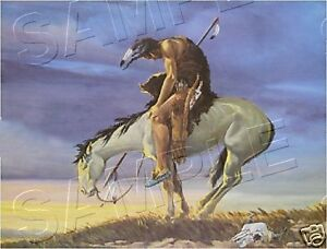 END-OF-THE-TRAIL-FAMOUS-MAN-amp-HORSE-CANVAS-ART-PRINT