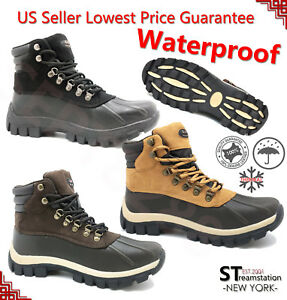 New-Winter-Snow-Boots-Men-039-s-Work-Boots-Shoes-Leather-Lace-Up-Waterproof-2017