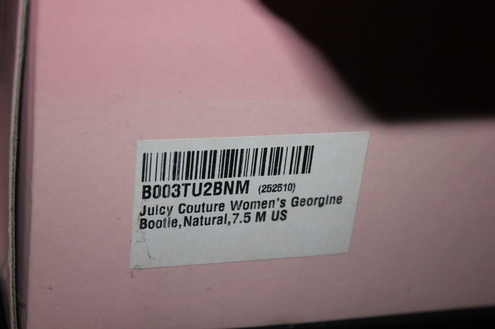 Juicy Couture Georgine Open Toe Stiefelie Heels schuhe in in in Natural Suede Größe 7.5 974d29