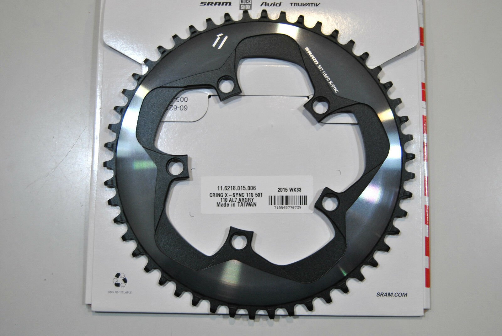 CHAINRING TRUVATIV SRAM X-SYNC 50 Teeth X1 110mm 1x11Speed CHAINRING SRAM X1 50T