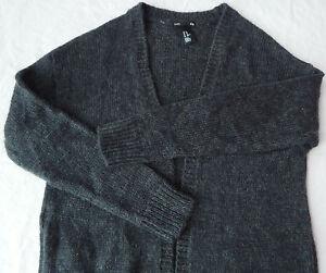 mode la plus désirable les dernières nouveautés bon out x Details about Black Mohair Blend Long Sweater Robe - XS Womens Small Open  Sweatercoat H&M
