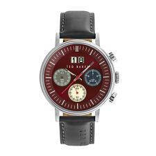 Ted Baker TE10024798 Men's Stainless Stel Case Leather Strap Case Quartz Watch