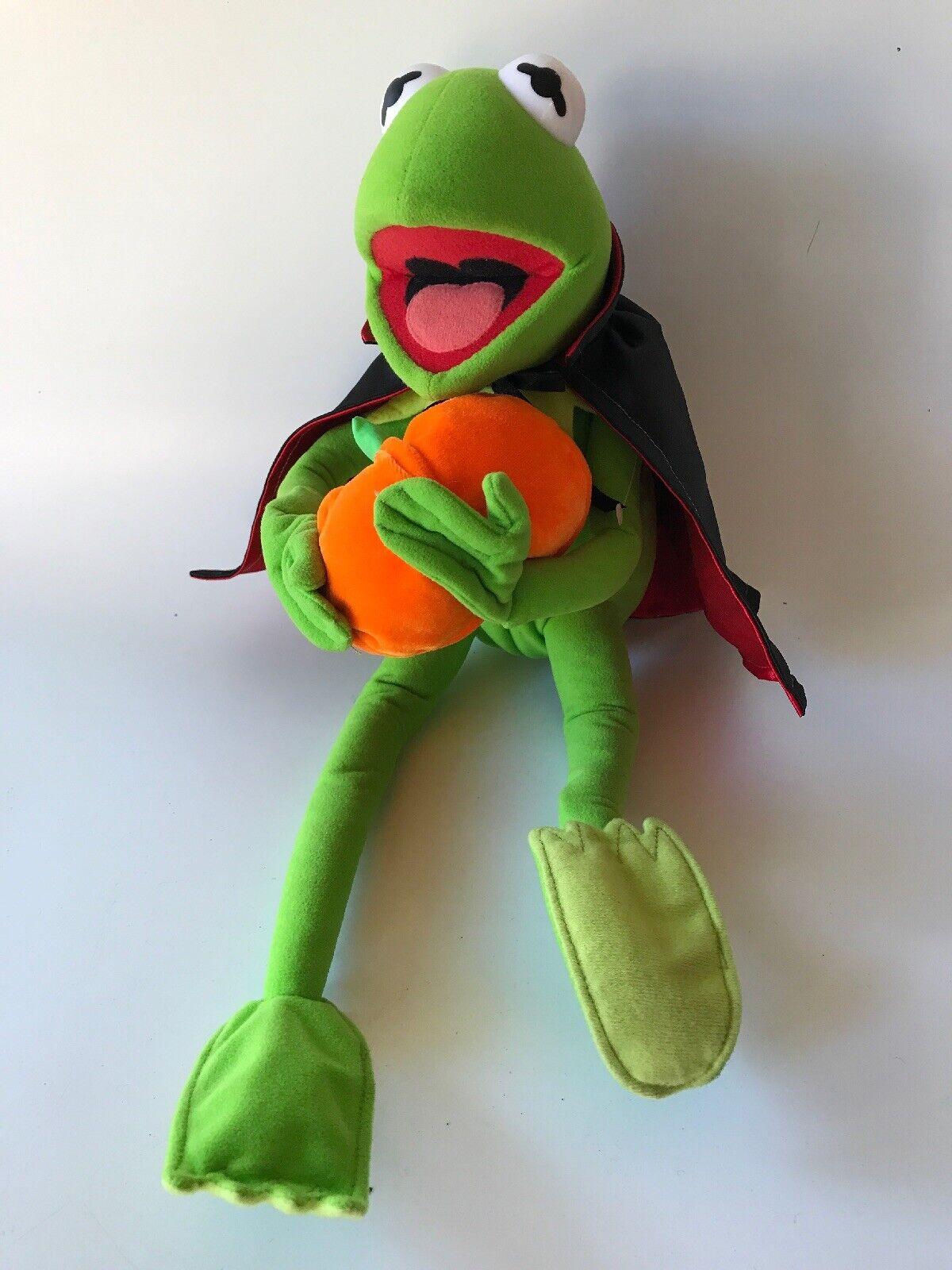 VTG Halloween, Sesame Street, Plush, Kermit The Frog, Pumpkin, Vampire,