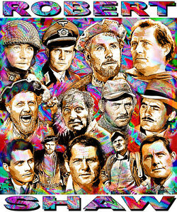 """robert Shaw"" Tribute T-shirt Or Print By Ed Seeman"
