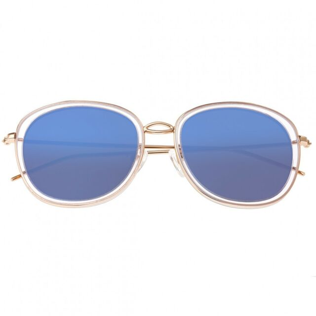 Bertha Scarlett Women s Polarized Blue Lens Rose Gold Sunglasses BR027BL 72cbc47f3f