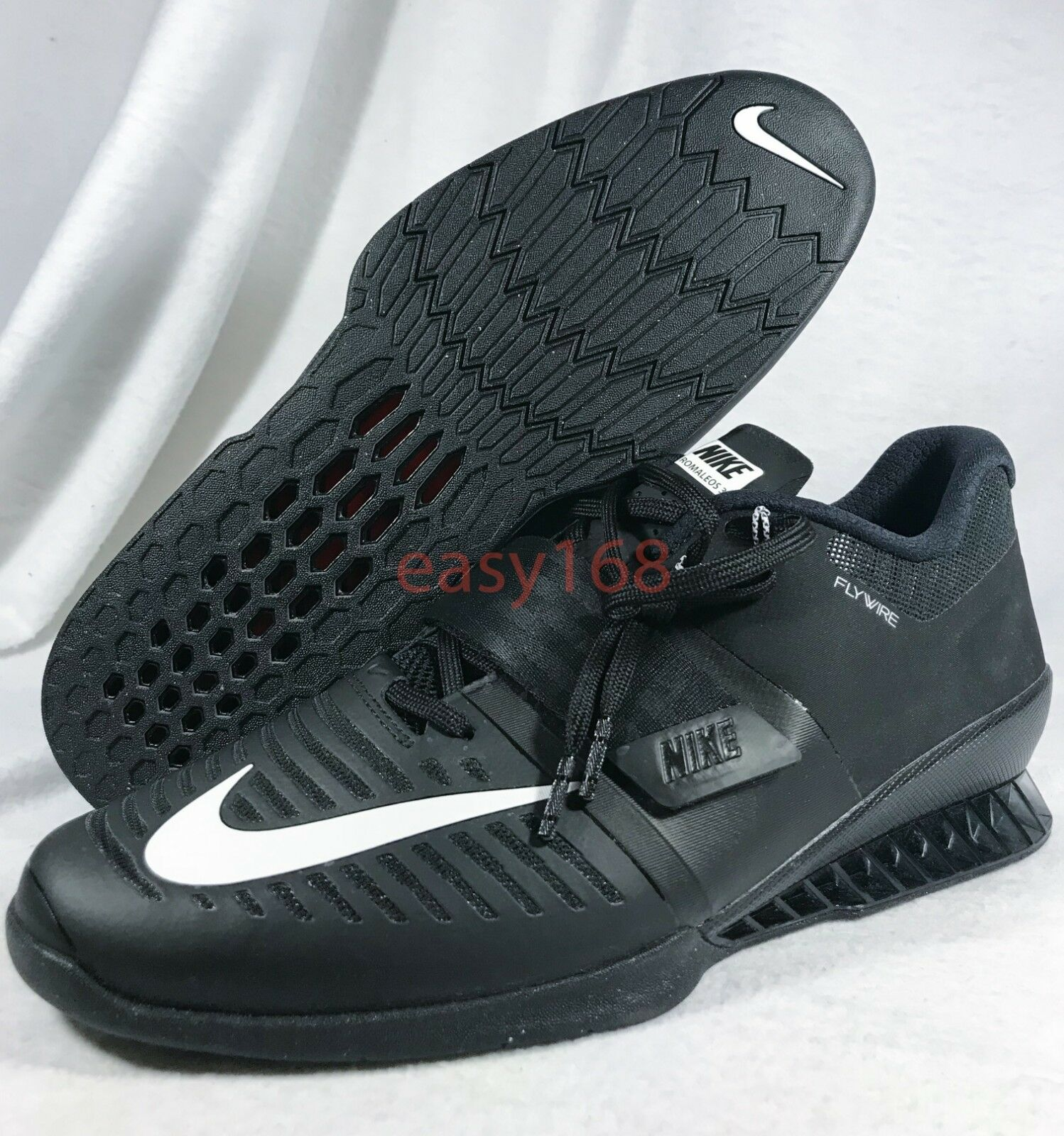 New Nike Romaleos 3 mens Sz 14 Weightlifting Training Black shoes 852933 Weight