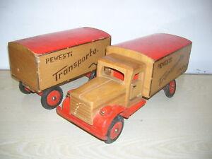 vecchi in I camion Ddr Veb valigia giocattolo Pewesti legno trasporti camion BtCrdQoshx