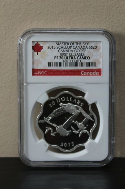 2015 Scallop Canada S$20 Canada Goose 1st Releases Master of the Sky NGC PF70