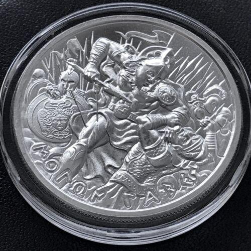 New 2019 Molon Labe V 1 oz 39mm 999 Fine Silver Come and Take It Medal Spartan