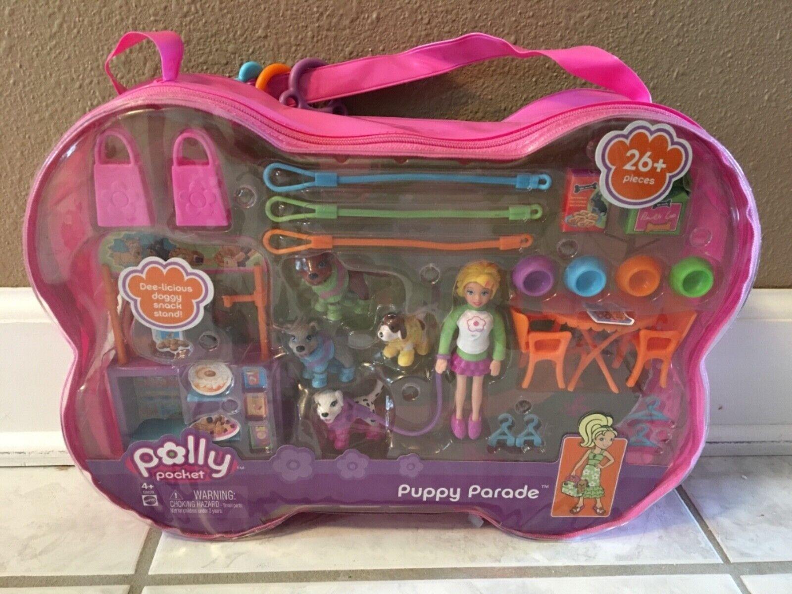 Nueva Muñeca Polly Pocket Cachorro Perro desfile conjunto Mattel Vintage 2005 Rara
