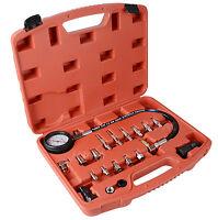 20 pc Diesel Engine Compression Automotive Tester Kit Tool Set 0-1000 PSI