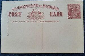 Australian  pre decimal stamps postcard.