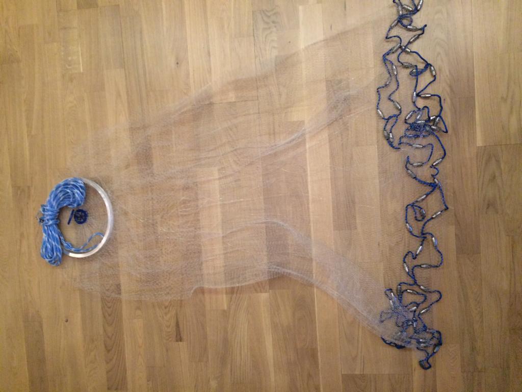 No. 5, Fishnet 3,05m diameter, cast net, mole netting, Professional Mole Netting New Model